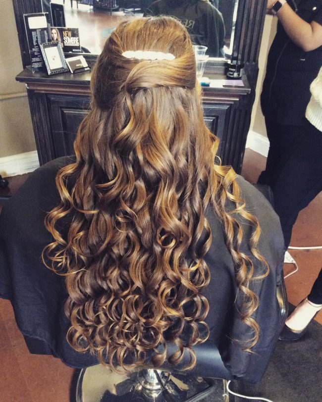 Curly Updo for a Prom Queen