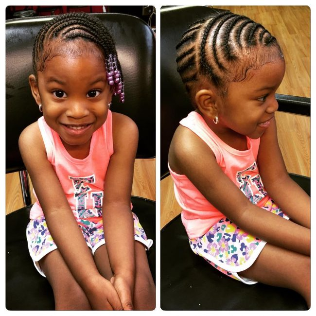 Cute Beaded Cornrows