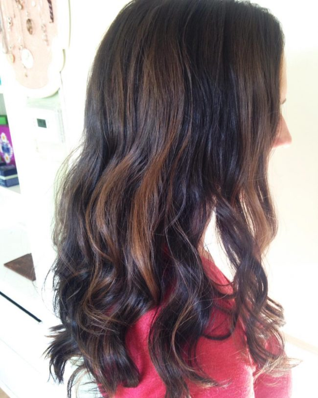 Dark Chocolate Balayaged Ombre
