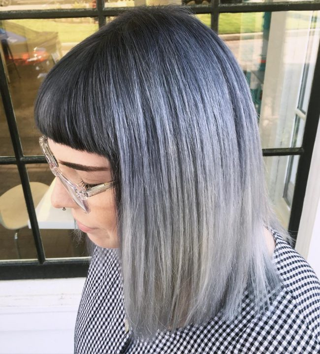 Dark Roots and Silver Blend