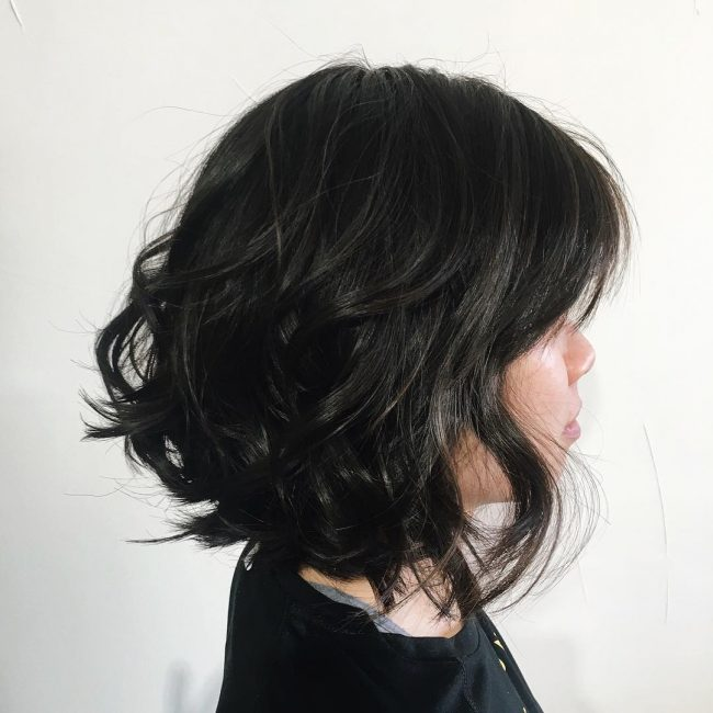 Dark Toned Wavy Blow Dry
