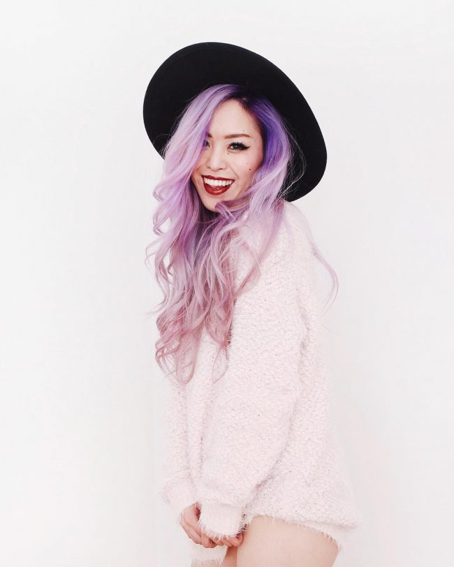 Dazzling Purple Locks