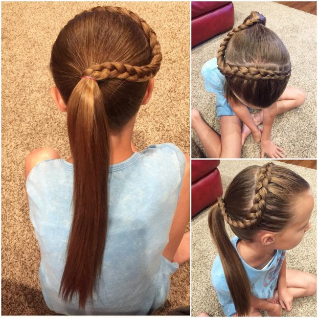 Dipping Dutch Braid