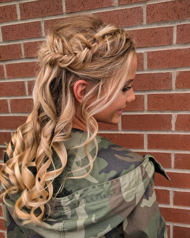 Dutch French Fishtail Up Style