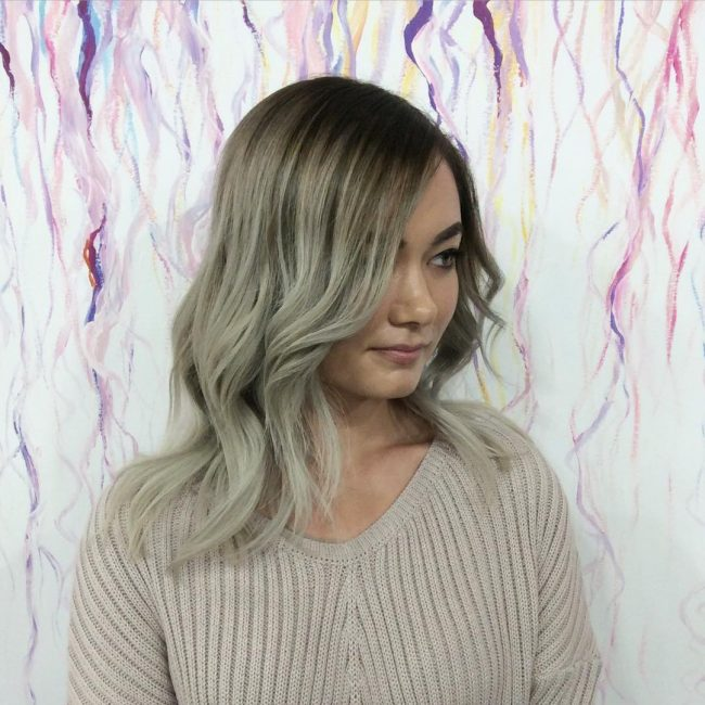 Easy Brown to Silver Ombre Hair