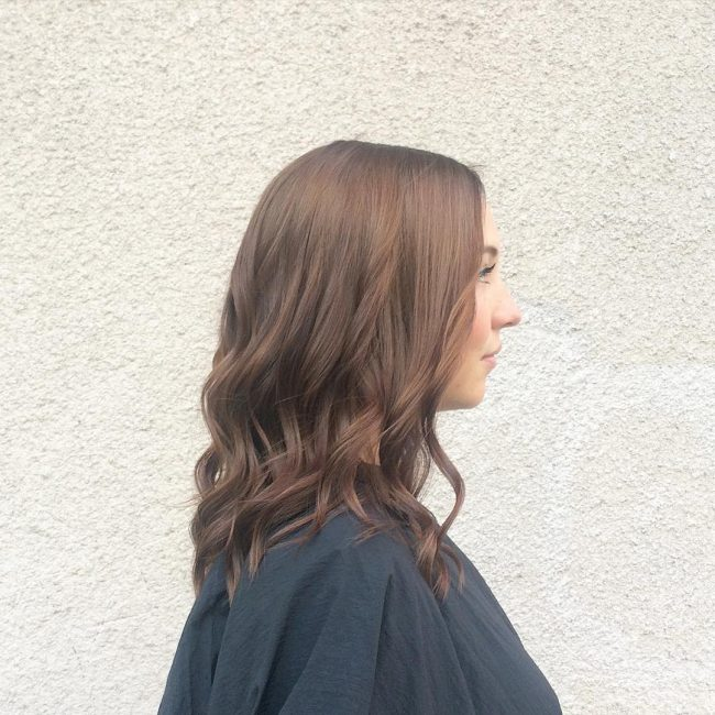 Easy Mid Length Brown Strands