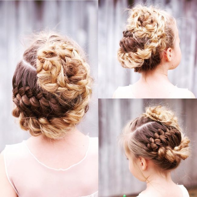 Fairy Hair With Braid Bun