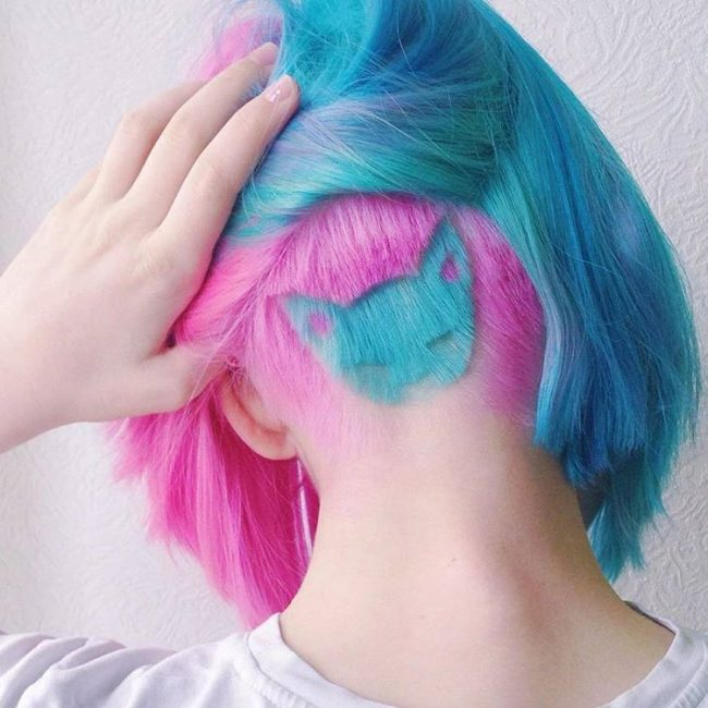 Fashionable Colors and Buzzed Undercut