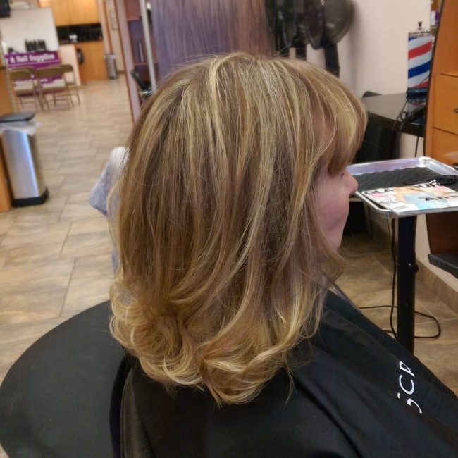 Fine Blonde and Copper Bangs