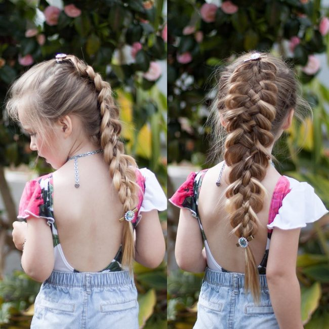 Five Strand Braid with Clips
