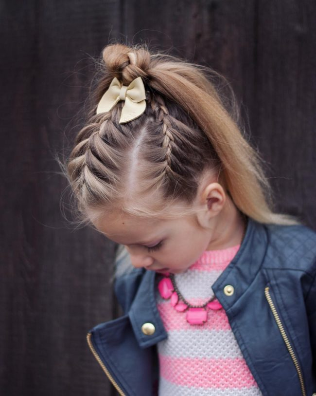 Flyaway French Braid With Waterfall Ponytail