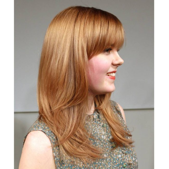 Fuller Bangs for Strawberry Blonde