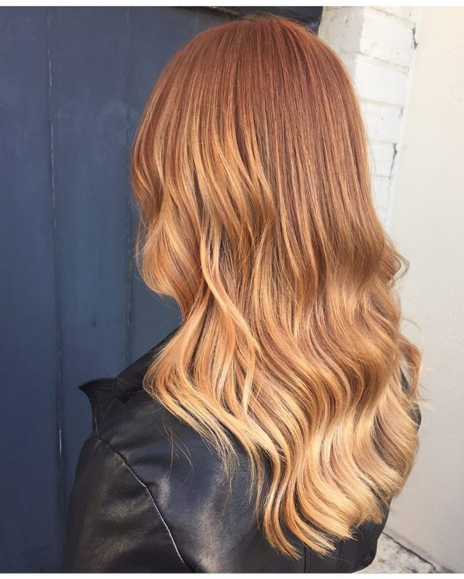 Golden Ombre Waves
