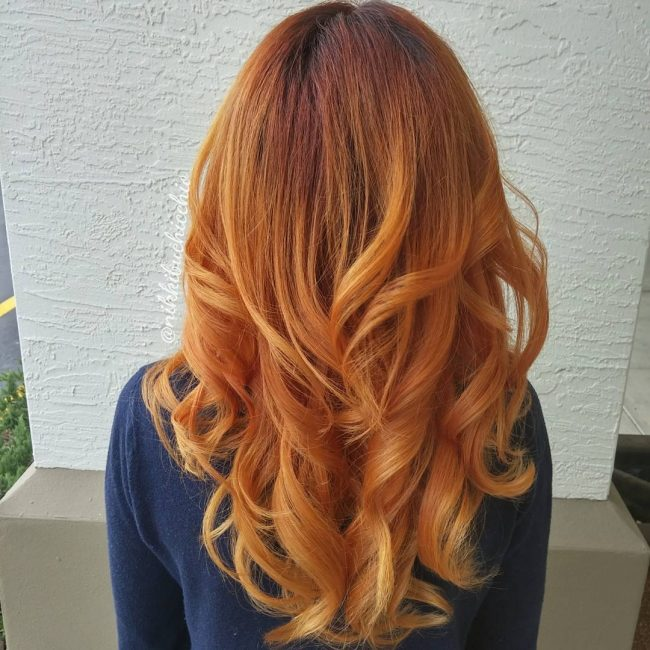 Gorgeous Auburn to Ginger Ombre