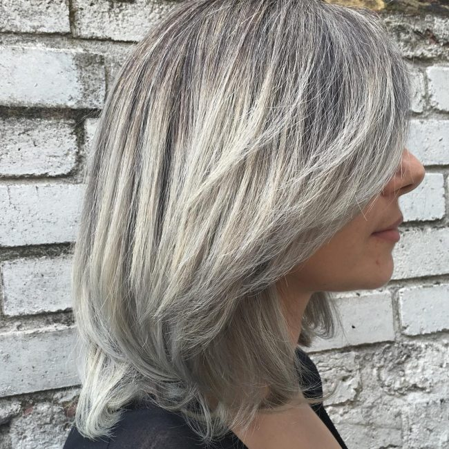 Grey Ombre for Thin Hair