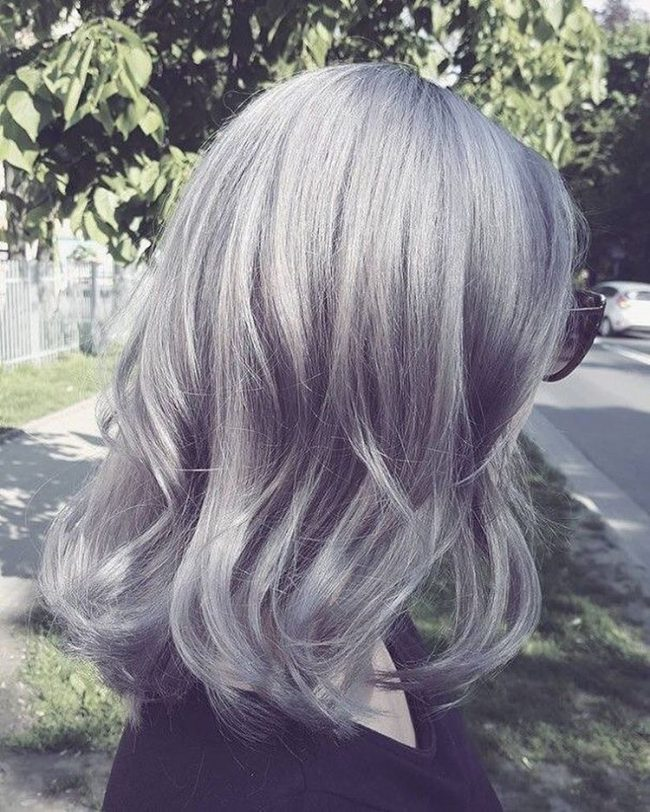 Gun Metal Gray and Extra Light Blonde Locks