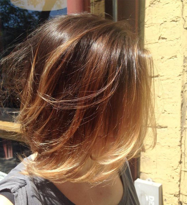 Red Ombre Blonde Tips Hairstylegalleries Com