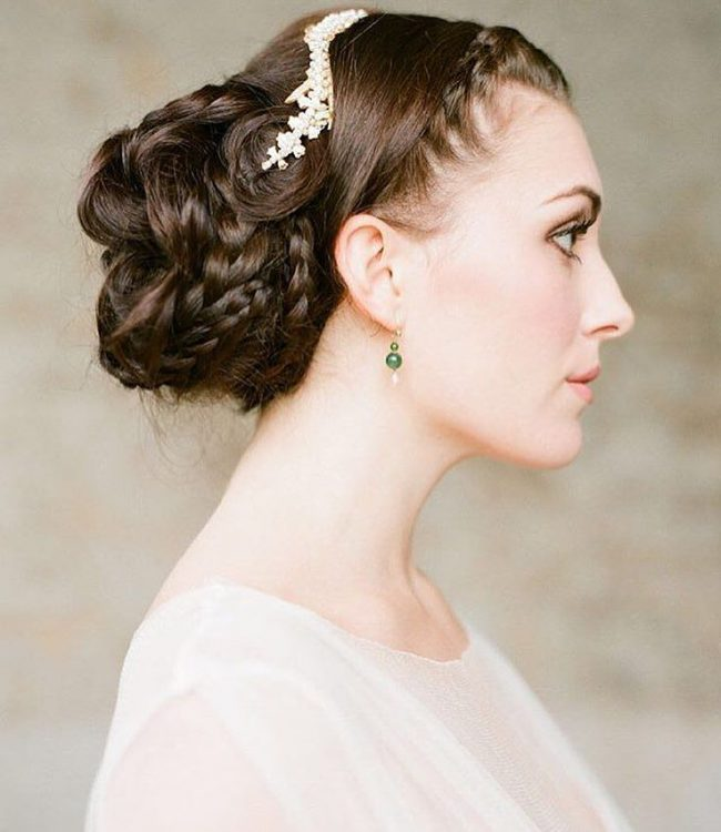 Intricately Braided Chignon and a Fancy Headband