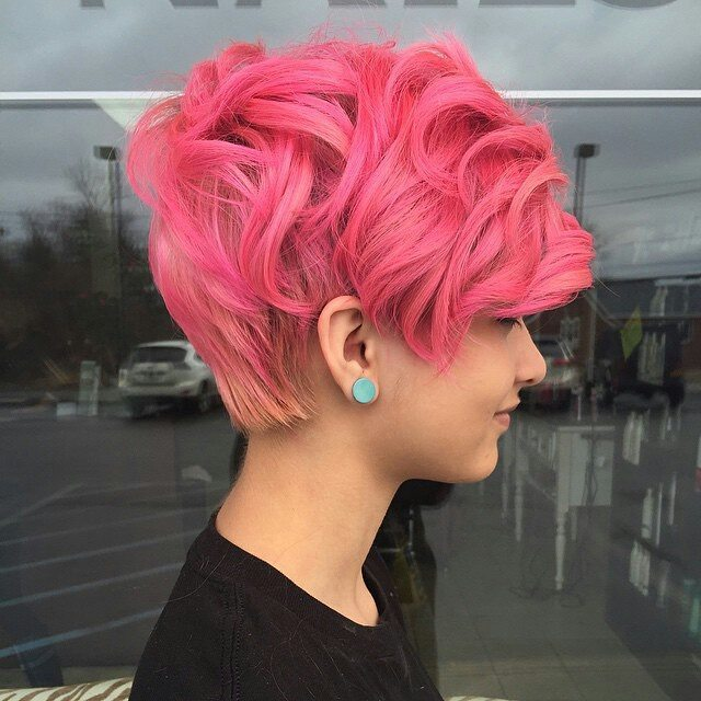 Layered Pink Bangs