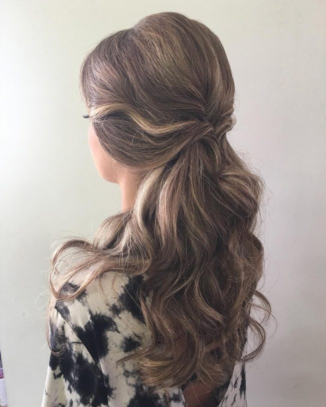 Long Curly Updo for Prom