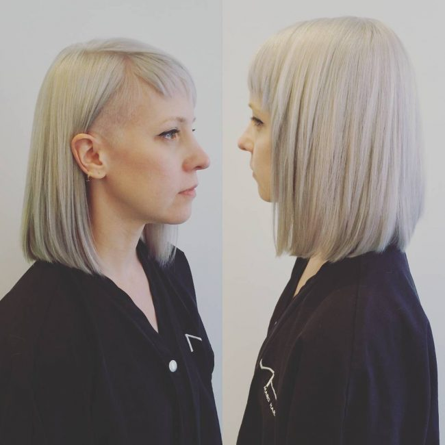 Long Smooth Bob with Undercut
