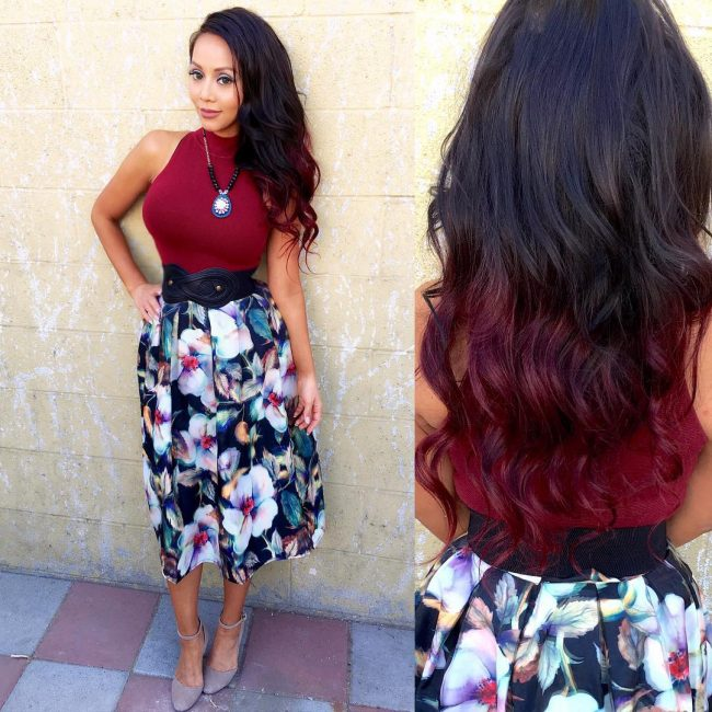 30 blushing burgundy ombre hair ideas ravishing in red hairstylezz magenta magic solutioingenieria Choice Image