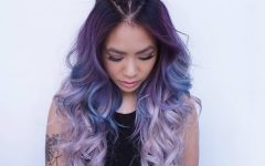 Magical Purple to Golden Blonde Ombre