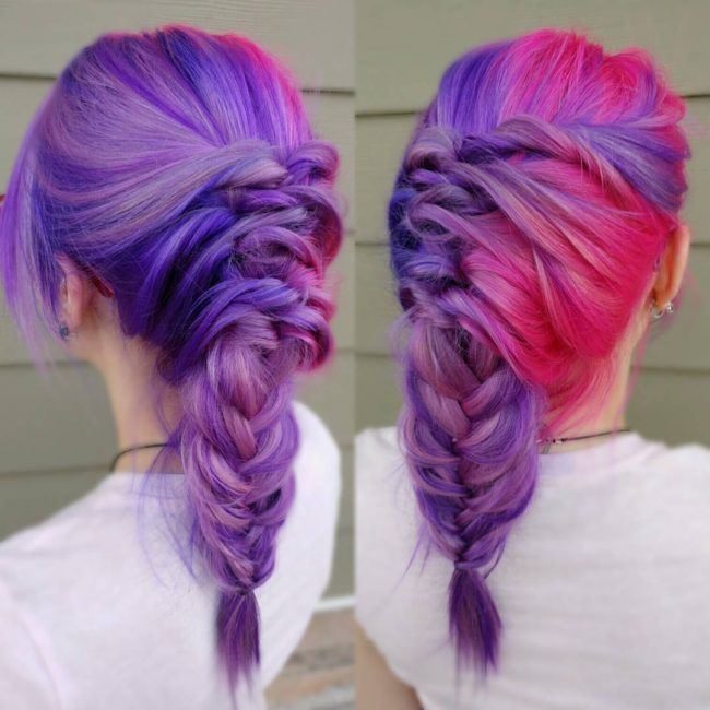 Massive Purple and Pink Braid