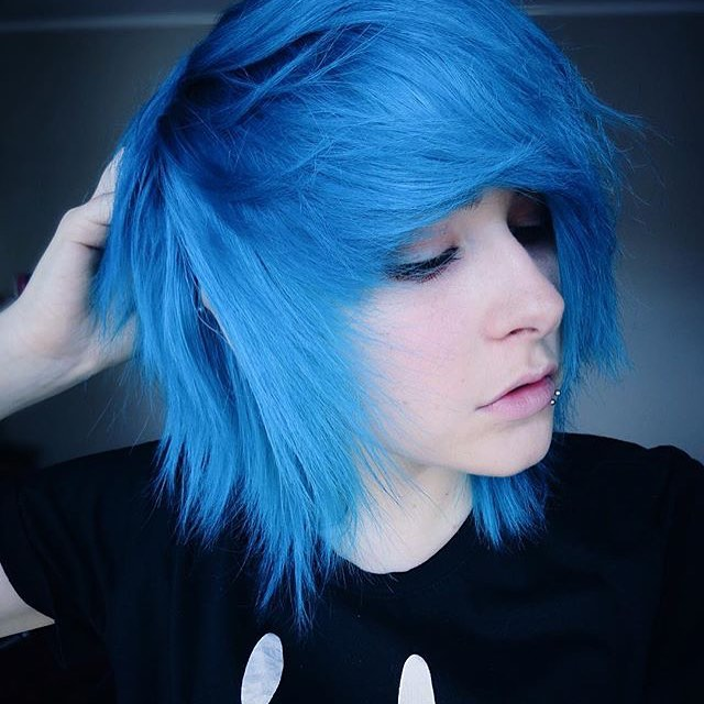 Medium Angular Blue Emo