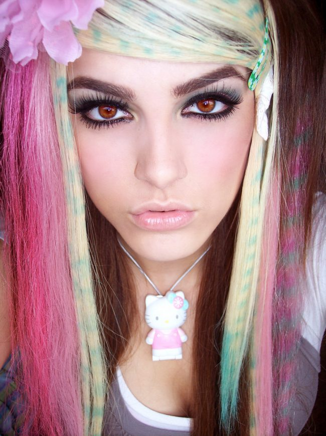 Multicolored Straight Tresses