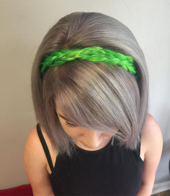 Neon Green and Silver Gray Contrast