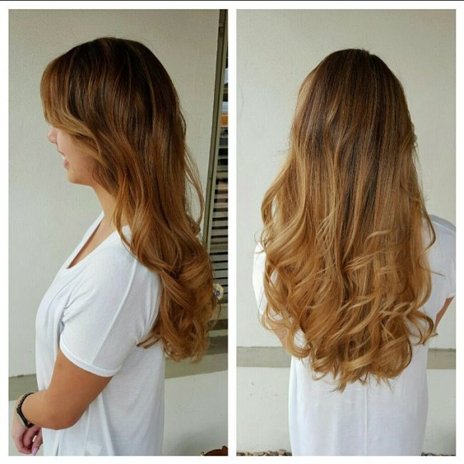 Ombre for Side Parted Bangs