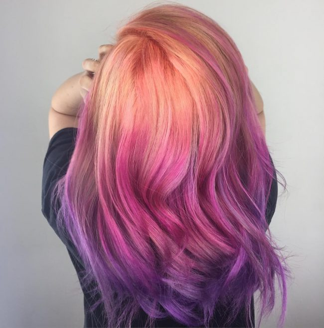 Peachy Purple Rainbow
