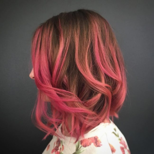 Perfect Pink Balayage Ombre