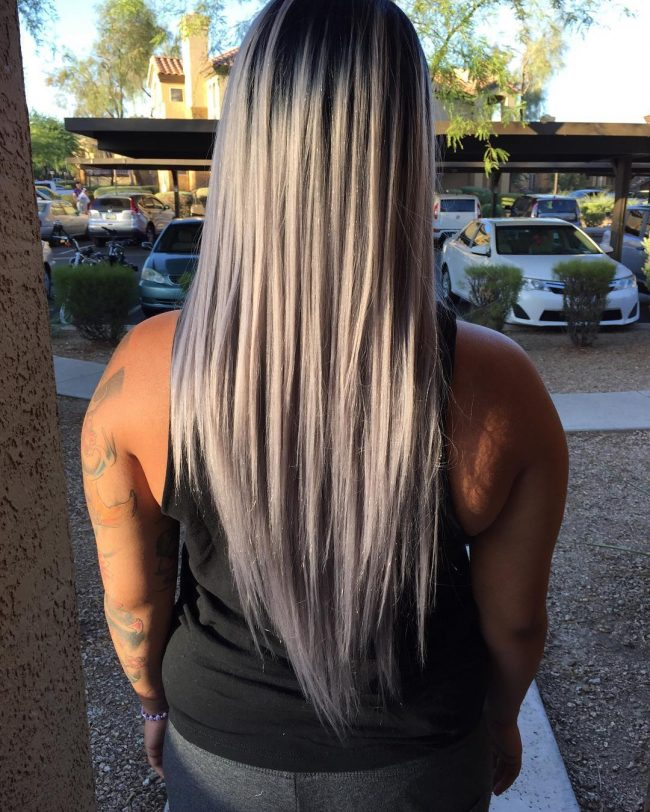 Pure Silver with Dark Roots