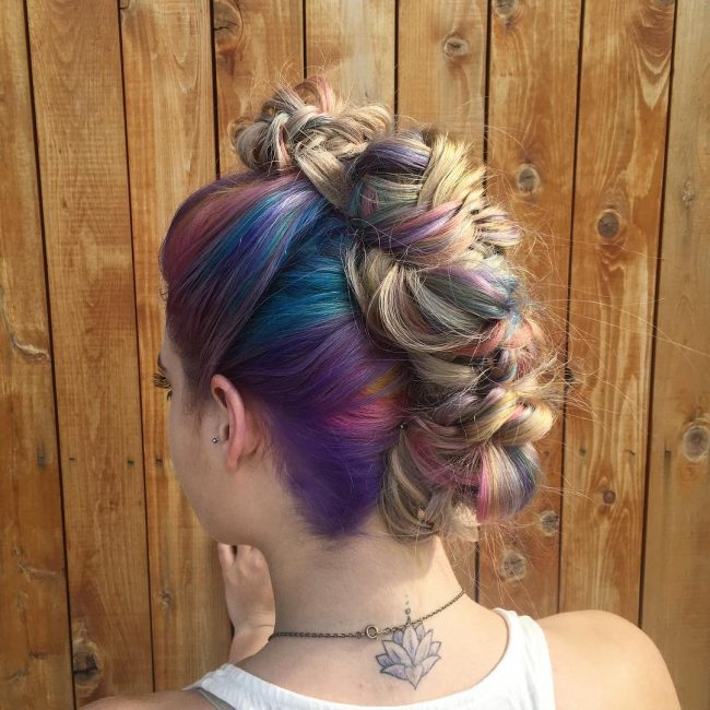 Rainbow Roots and Faux Hawk