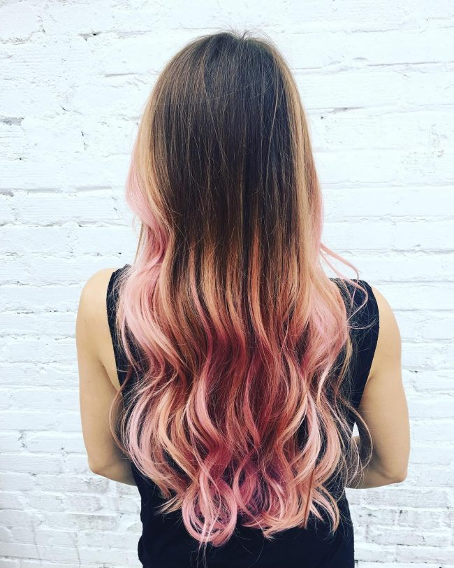 Rose Gold Ombre for Mermaid Hair