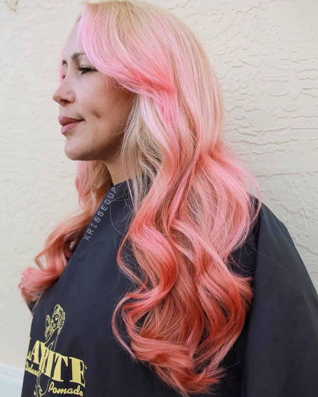 Rosy Pink Blonde Ombre