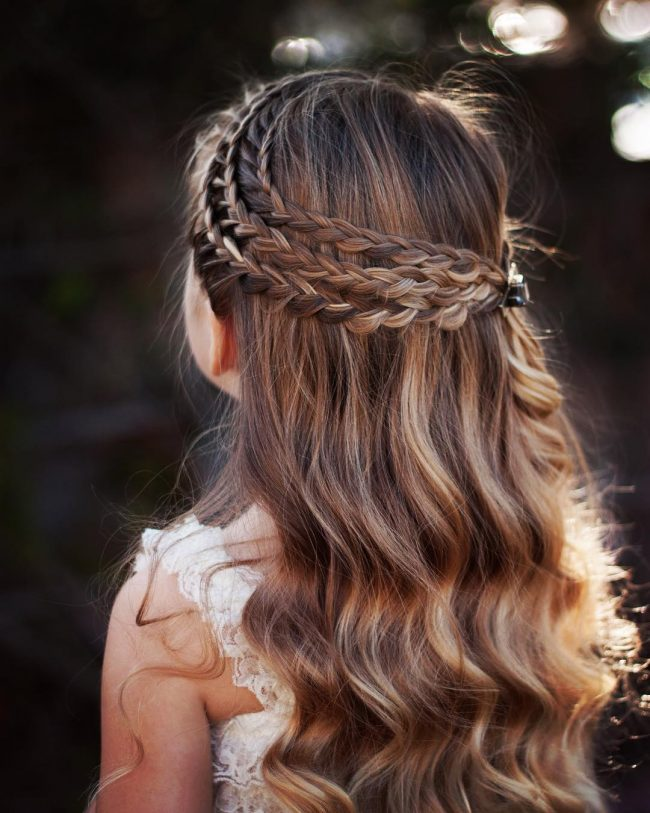 Rows Of Braids Over Wavy Locks