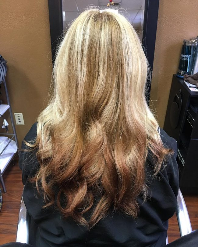 Rustic Blonde To Brown Ombre