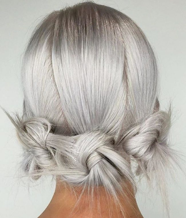 Separated Ponytail Updo