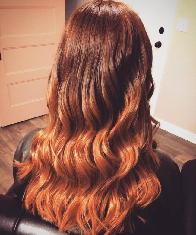 Shiny Copper into Ginger Ombre