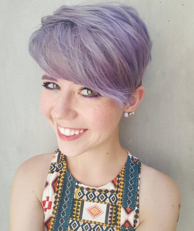 Short Purple Pixie