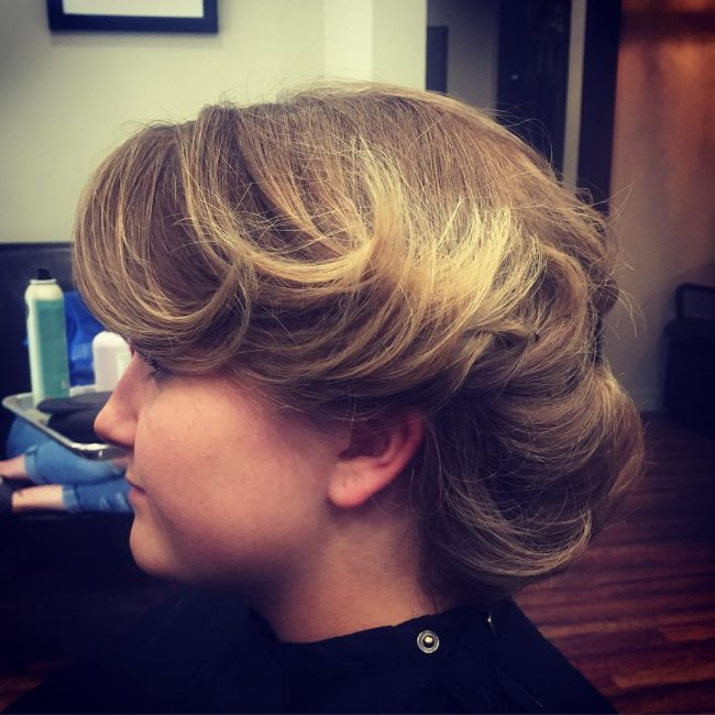 Short Updo with French Twist