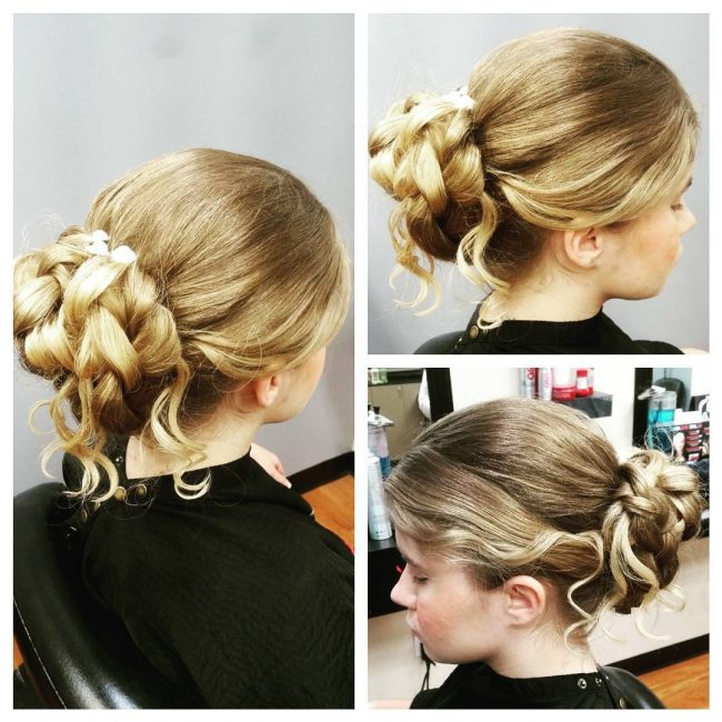 Short Updo with a Braided Bun
