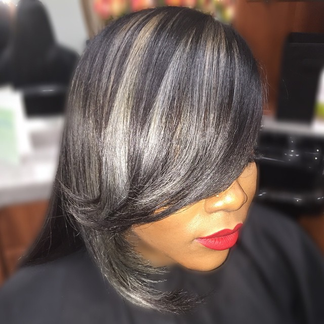 Silver Gray with Bangs