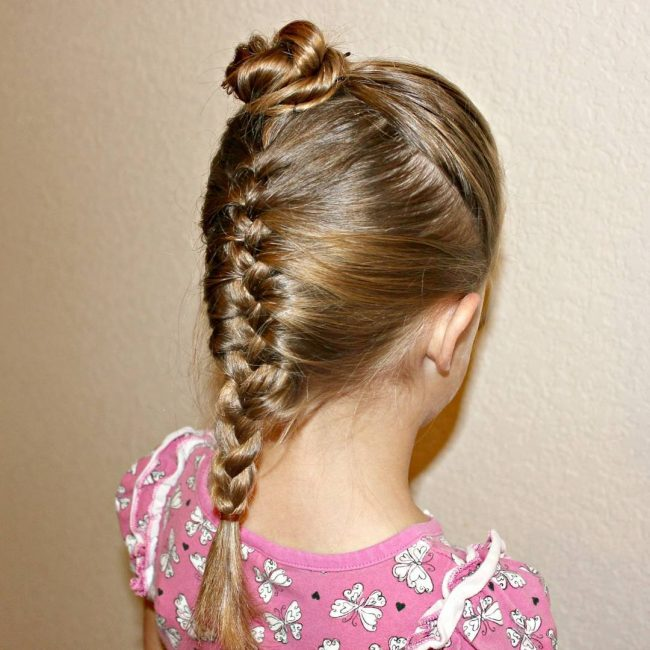 Simple Bun and French Braid