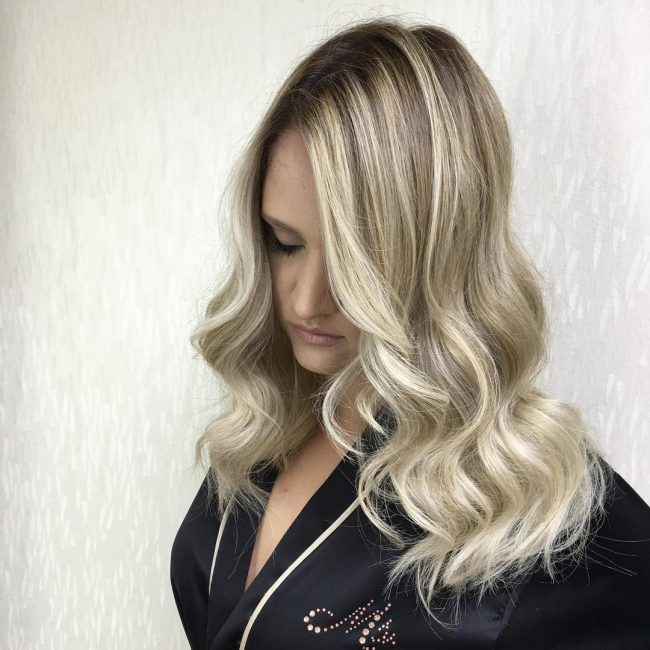 Sleek Baby Blonde Tresses
