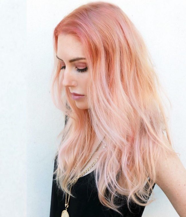 Soft Pink Ombre for Mermaid Hair