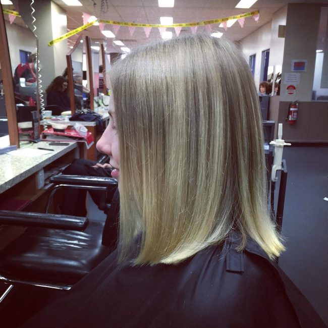 Solid and Blunt Blonde Bob